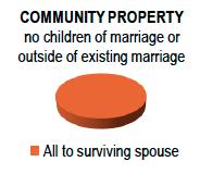 Community Property No Children but a surviving spouse