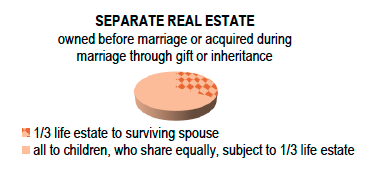 Separate Real Property Chart